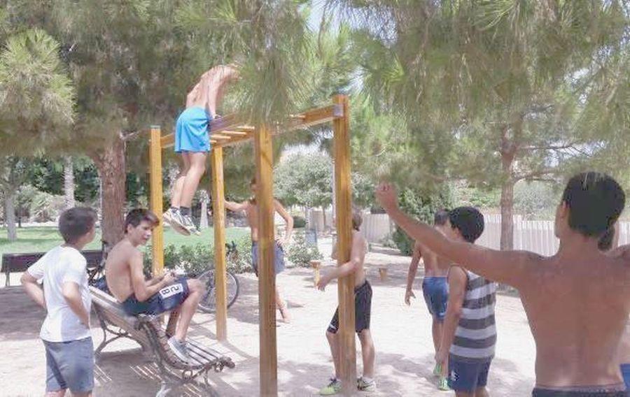 Nueva zona para ejercicios musculares en el Parque de Mutxamel