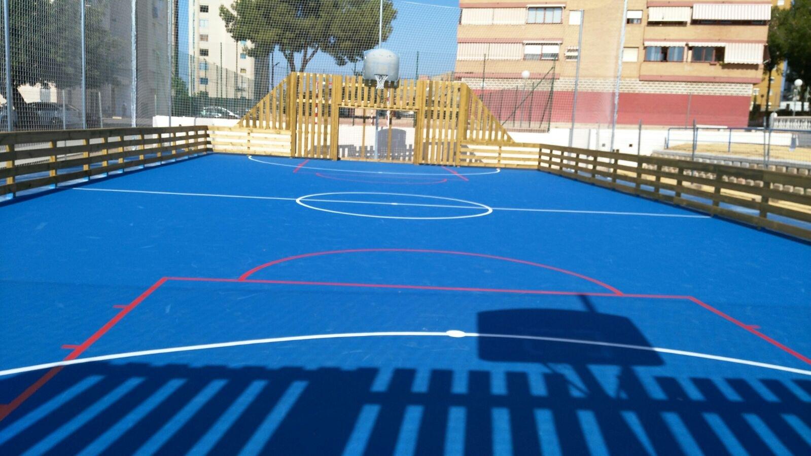 Pista Global Grass Sportplus para área multideportes en Benidorm (Alicante)