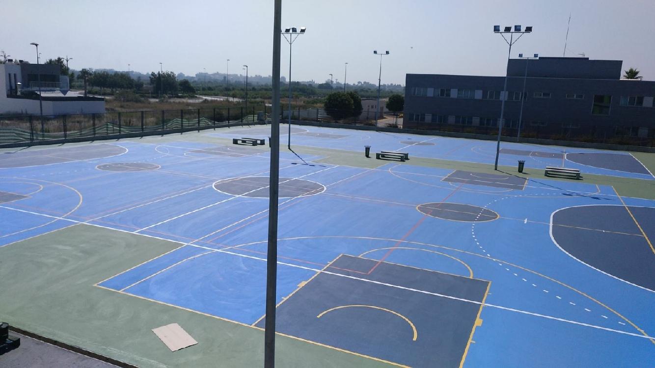 3 pistas Polideportivas (2.800 m2) para el CEIP Cardenal Tarancón de Burriana (Castellón)