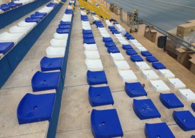 Asientos para gradas de los polideportivos de Sant Joan D'Alacant