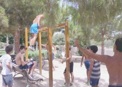 Zona para Ejercicios musculares en Parque de Mutxamel (Alicante)